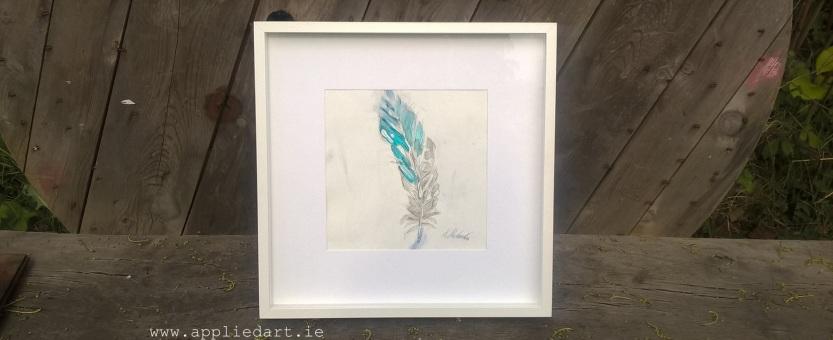 feather painting dublin artist painting order www.appliedart.ie klaudia pawlowska dublin ireland