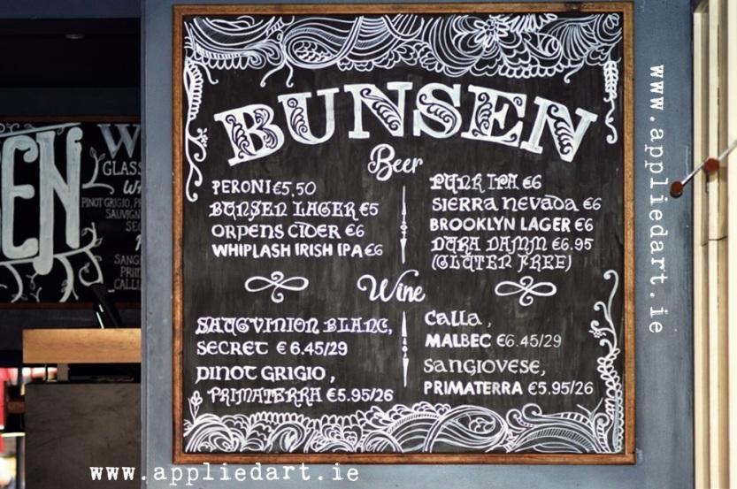 mural artist dublin ireland artist design chalk board restaurant mural food mural