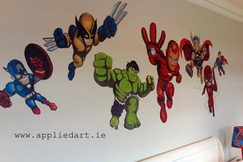 avengers mural kids murals wall painting dubl,in ireland mural company appliedart.ie