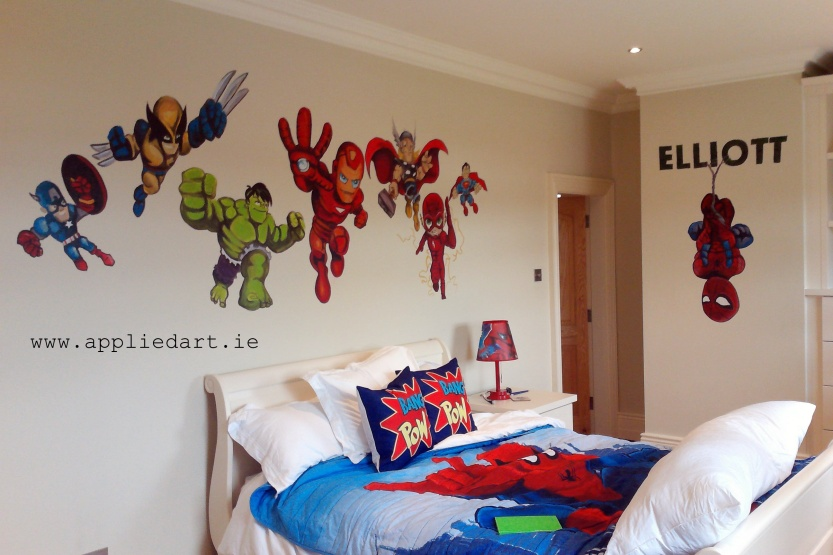 avengers superhero mural kids murals wall painting dubl,in ireland mural company appliedart.ie