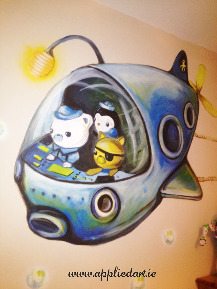 kids murals ireland banner name paintin wall decoration mural artis dublin www.appliedart.ie klaudia pawlowska artist dublin ireland