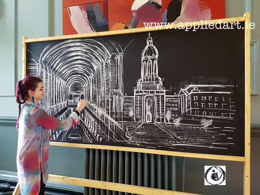 artist dublin mural art for business klaudia pawlowska byrne dublin paintings chalk artwork custom wood designs trinity college dublin art work (4)