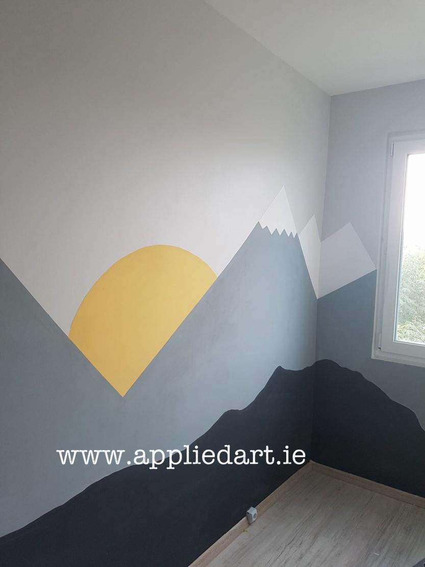 Modern Mural Dublin Ireland Artist Wall Paintings Klaudia Pawlowska Byrne appliedart.ie art tallaght artist