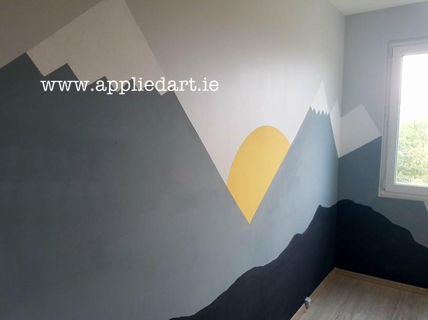 Modern Mural Dublin Ireland Artist Wall Paintings Klaudia Pawlowska Byrne appliedart.ie