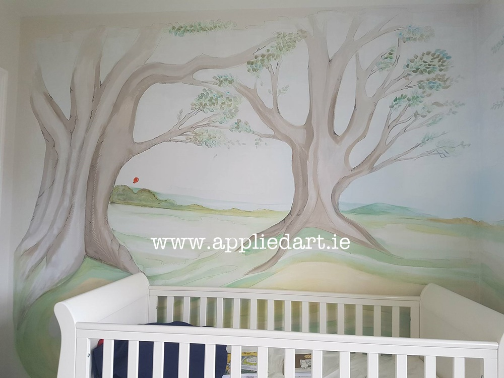 Winnie The Pooh Nursery Design Applied Art Mural Services