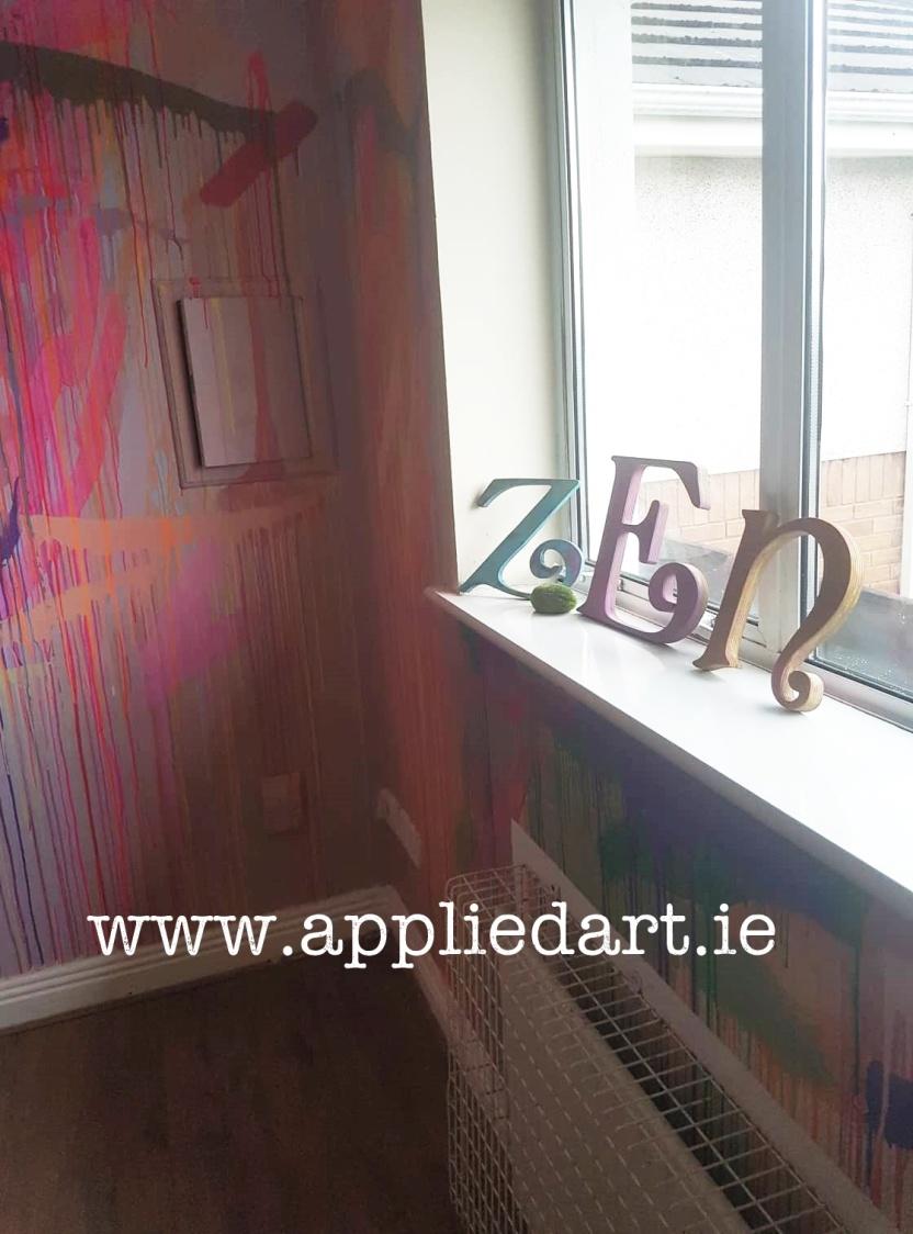 klaudia byrne artist dubkin ireland commision paintings murals splat splat graffitti style r my creche mural irelnad dublin tree