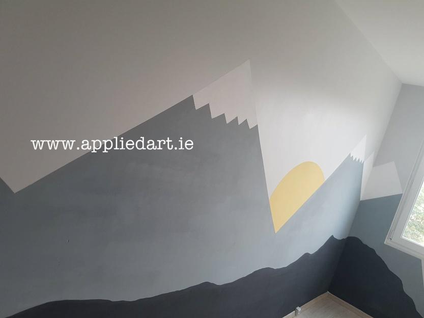 Modern Mural Dublin Ireland Artist Wall Paintings Klaudia Pawlowska Byrne appliedart.ie art saggart artist