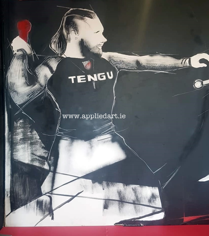 Mural Painteed for Tengu Ireland Dublin Gym Art Graphics painted in Ireland by Applied Art ie Klaudia Byrne Mural Branding Design (13)