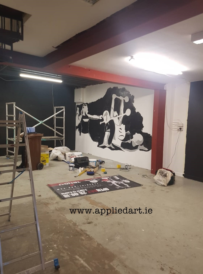 Mural Painteed for Tengu Ireland Dublin Gym Art Graphics painted in Ireland by Applied Art ie Klaudia Byrne Mural Branding Design (19)