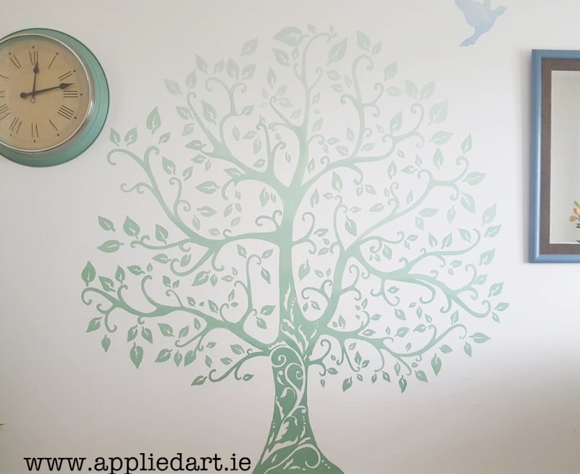 simple shaded tree mural handpainted a applied art dublin mural services klaudia byrne mural murals murals murals dublin ireland