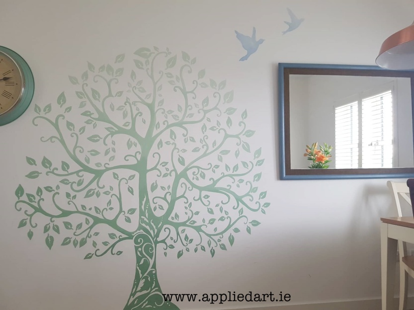simple shaded tree mural handpainted applied art dublin mural services klaudia byrne mural murals murals murals dublin ireland irish