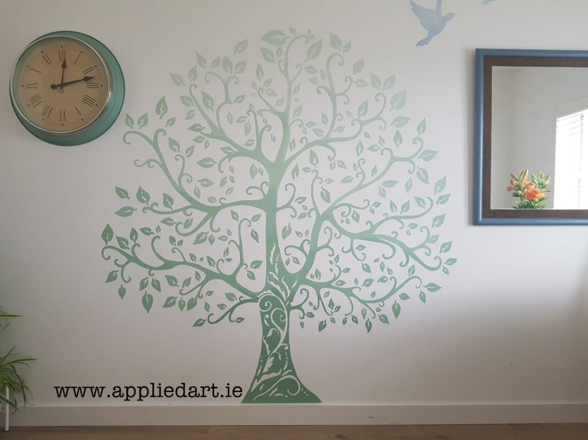 simple shaded tree mural handpainted applied art dublin mural services klaudia byrne mural murals murals murals dublin ireland