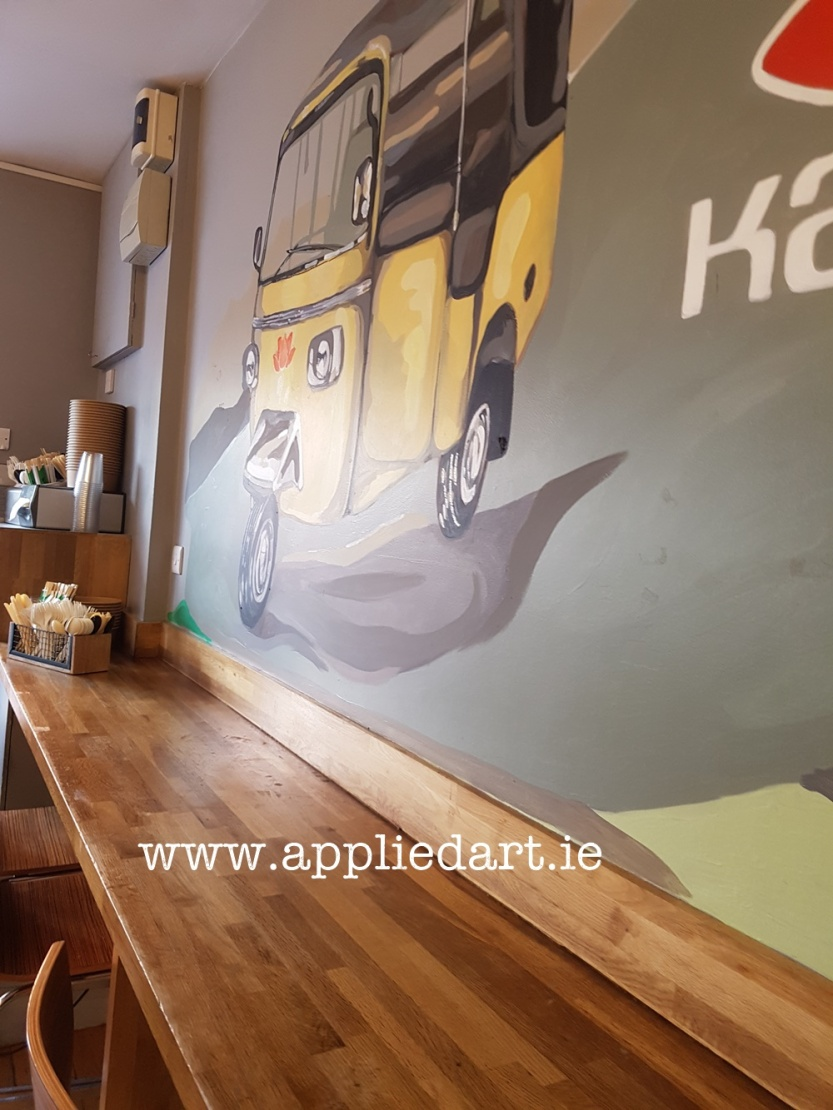 a Kanum mural hand painted art klaudia byrne appliedart.ie painted modern art for the restaurant branding dublin artist comission comission art ireland muralist paintings wall branding original art restaura (85)