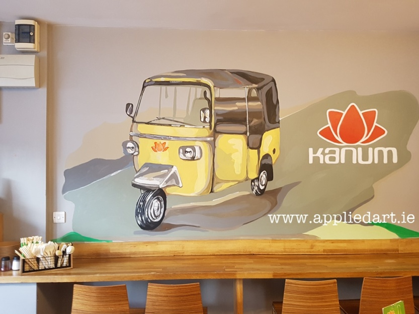 a Kanum mural hand painted art klaudia byrne appliedart.ie painted modern art for the restaurant branding dublin artist comission comission art ireland muralist paintings wall branding original art restaura (67)
