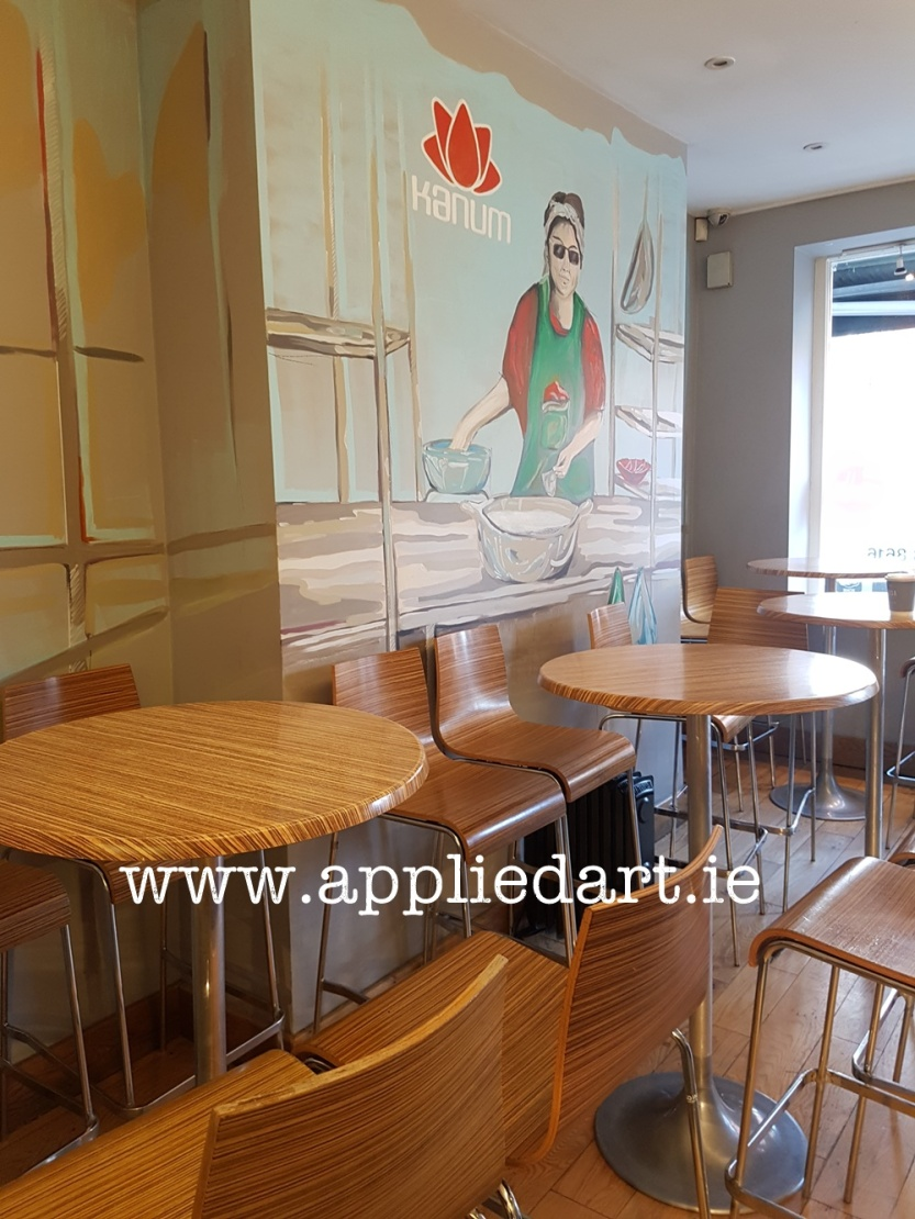 a Kanum mural hand painted art klaudia byrne appliedart.ie painted modern art for the restaurant branding dublin artist comission comission art ireland muralist paintings wall branding original art restaura (58)