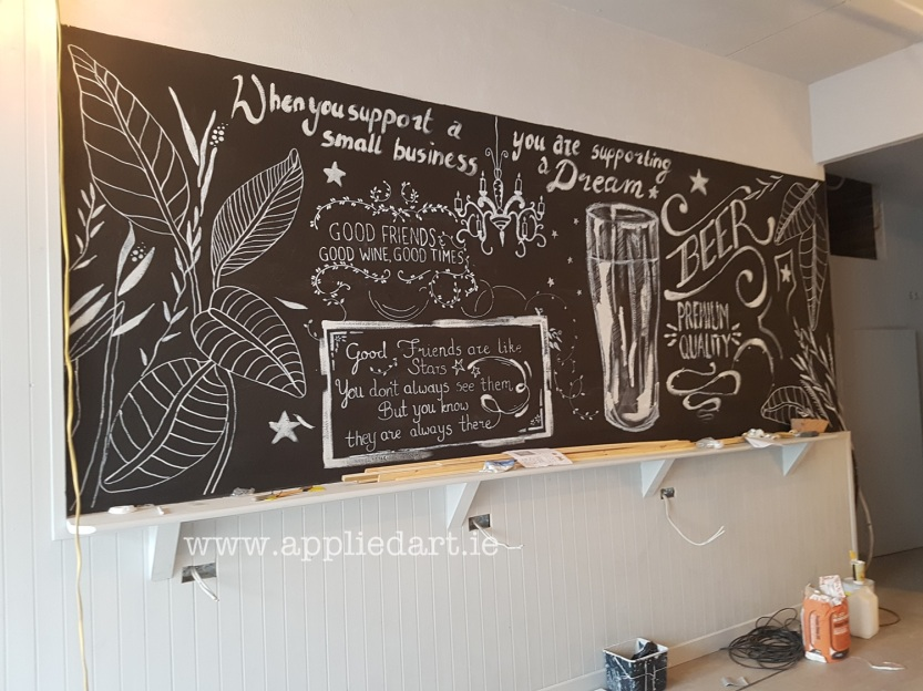 aKlaudia Byrne Applied Art chalk art cafe nwetown mount kennedy irish artist chalk board commercial art painting chalk branding ireland (35)