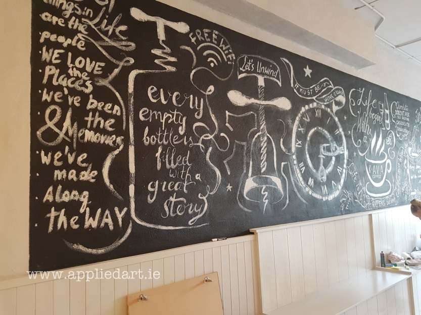 aKlaudia Byrne Applied Art chalk art cafe nwetown mount kennedy irish artist chalk board commercial art painting chalk branding ireland (37)