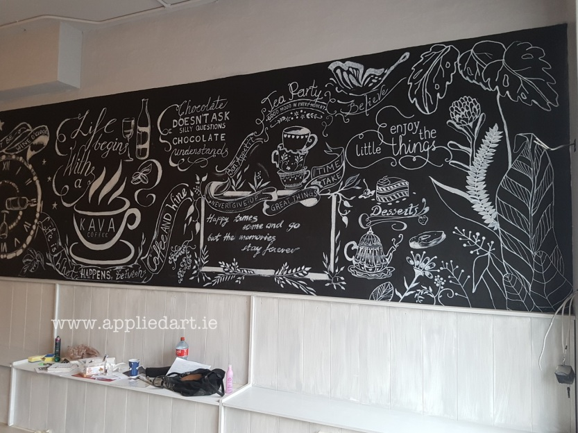 aKlaudia Byrne Applied Art chalk art cafe nwetown mount kennedy irish artist chalk board commercial art painting chalk branding ireland (43)
