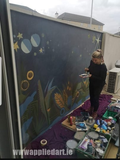 Klaudia byrne artist dublin applied art ireland dublin klausia artist saggart locl artist newcastle tallaght artist painter muralsit ireland mural mural art (16)