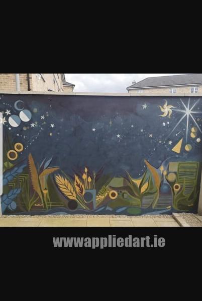 Klaudia byrne artist dublin applied art ireland dublin klausia artist saggart locl artist newcastle tallaght artist painter muralsit ireland mural mural art (17)